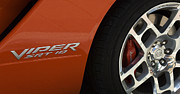 Truck Detail Prints - Viper SRT 10 Emblem and Wheel Print by Bob Christopher