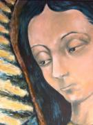 Virgen De Guadalupe Paintings - Virgen De Guadalupe by DEVARAJ DanielFranco