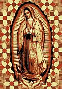 Virgen Mary Framed Prints - Virgen de Guadalupe II Framed Print by Horacio Martinez