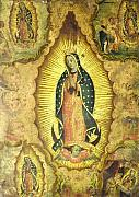 Virgen De Guadalupe Paintings - Virgen de Guadalupe by Unknown