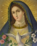 Devotional Paintings - Virgen de La Paloma by Unknown