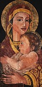 Orthodox Paintings - Virgin and Child by Camelia Apostol