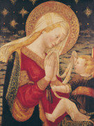 Xmas Painting Posters - Virgin and Child  Poster by Neri di Bicci
