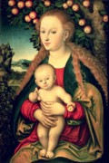 Christ Child Prints - Virgin and Child under an Apple Tree Print by Lucas Cranach the Elder