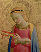 Annunciation Painting Posters - Virgin Annunciate Poster by Fra Angelico