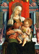 Virgin Mary Metal Prints - Virgin Mary and Child Metal Print by Carlo Crivelli
