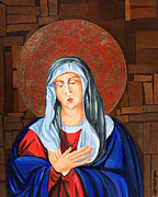 Byzantine Painting Prints - Virgin Mary Print by Claudia French
