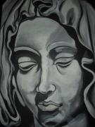 Virgin Mary Painting Originals - Virgin Mary by Donald Dunham