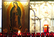 Medieval Temple Photo Posters - Virgin Mary Poster by Marius Sipa