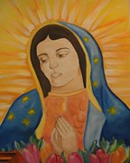 Virgin Mary Painting Originals - Virgin Mary by Yenni Castillo
