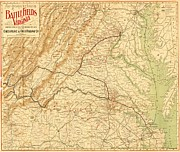 Maps Jewelry - Virginia Battlefields by Pg Reproductions
