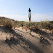 Virginia Photos - Virginia Beach and the New Cape Henry Lighthouse by JC Findley