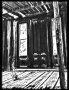 Virginia City Ghost Town Door II Print by Susan Kinney