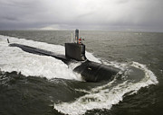 Bravo Prints - Virginia-class Attack Submarine Print by Stocktrek Images