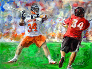 Lacrosse Paintings - Virginia Lacrosse by Scott Melby