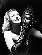 Opera Gloves Art - Virginia Mayo, Ca. Early 1940s by Everett