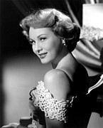 Bare Shoulder Framed Prints - Virginia Mayo, Ca. Early 1950s Framed Print by Everett