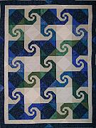Bed Quilt Tapestries - Textiles - Virginia Reel by Pam Geisel
