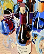 Red Wine Painting Prints - Virginia Selections Number One Print by Christopher Mize