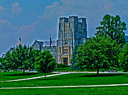 Virginia Tech Prints - Virginia Tech - Burress Hall Print by Andrew Webb