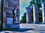 Virginia Tech Prints - Virginia Tech - War Memorial Print by Andrew Webb