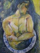 Zodiac Drawings - Virgo by Brigitte Hintner