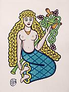 Celtic Knotwork Prints - Virgo Print by Ian Herriott