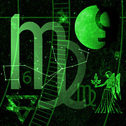 Horoscope Symbol Prints - Virgo Print by JP Rhea