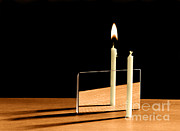 Candle Lit Prints - Virtual Image Print by Berenice Abbott