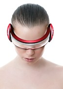 Headset Posters - Virtual Reality Headset Poster by Victor Habbick Visions