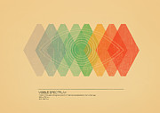Retro Framed Prints - Visible Spectrum Framed Print by Budi Satria Kwan