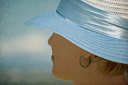 Sun Hat Prints - Vision in blue Print by Nelieta Mishchenko
