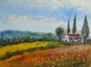 Vision Of Italy Tuscany Print by Michel      Croteau