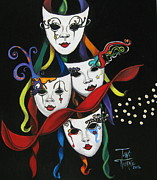 Mardi Gras Paintings - Visionaries 4 by Toni  Thorne
