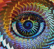 Eyes Digital Art Prints - Visionary Print by Gwyn Newcombe