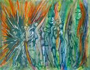 William Blake Paintings - Visionary I by Linda May Jones