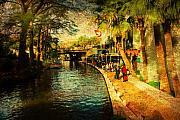 Riverwalk Prints - Visiting San Antonio Print by Iris Greenwell