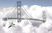 Landscape Digital Paintings - Visiting San Francisco by Stefan Kuhn