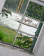 Cabin Window Posters - Visiting Vessel Poster by Susan Stephenson
