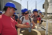 Tasting Photos - Visitors Taste Desalinated Water by Photostock-israel