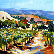 Grapevines Painting Prints - Vista 8 Print by Rae Andrews