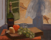 Italian Wine Paintings - Vista dalla Finestra by Katherine Seger