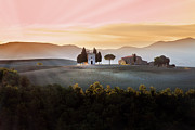 Italian Sunset Posters - Vitaleta Chapel At Sunset Poster by Jova photo