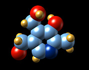 Essential Framed Prints - Vitamin B6, Molecular Model Framed Print by Dr Mark J. Winter