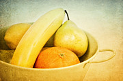 Banana Mixed Media Prints - Vitamina Print by Angela Doelling AD DESIGN Photo and PhotoArt