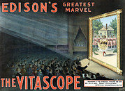 Edison Prints - Vitascope, An Early Motion Picture Print by Everett
