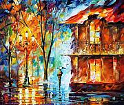 Roof Paintings - Vitebsk by Leonid Afremov