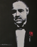Godfather Prints - Vito Andolini Corleone Print by Eric Dee