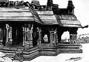 Vittala Temple Hampi Print by Shashi Kumar