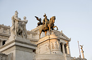 Figures Metal Prints - Vittoriano. Monument to Victor Emmanuel II. Rome Metal Print by Bernard Jaubert